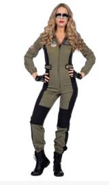 Top pilote kostuum lady