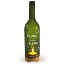 Wine Candle - Schooljaar | Wijnfles decoratie