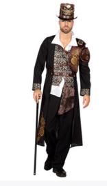 Steampunk kostuum black