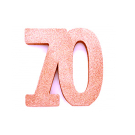 Tafel decoratie rose goud 70