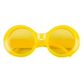 Partybril Jackie neongeel