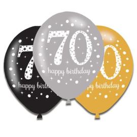 Ballonnen sparkling gold 70 jaar
