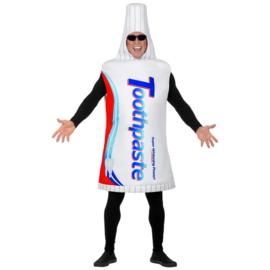 Tandpasta tube kostuum