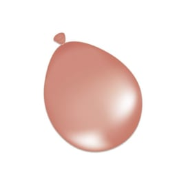 Kwaliteitsballon metallic rose gold 100 stuks