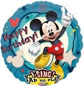 Folieballon Mickey Mouse muziek (71cm)
