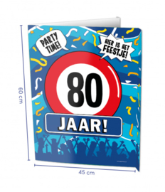 Window signs - 80 jaar | Raambord