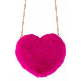 Tas pluche hart roze