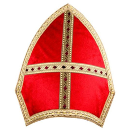 Sinterklaas luxe mijter fluweel