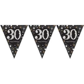 Vlaggenlijn sparkling gold 30 jaar
