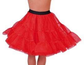 Petticoat kniehoogte rood op=op