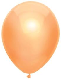 Kwaliteitsballon metallic peach 10 stuks