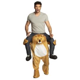 Carre me Kostuum door leeuw gedragen