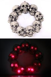 Skeletten krans met licht