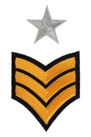 Applicatie Leger strepen en sterren