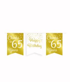 Party vlaggenlijn goud/wit - 65