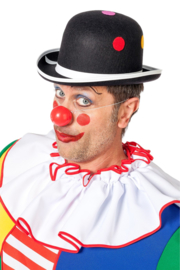 Clowns hoed dots zwart