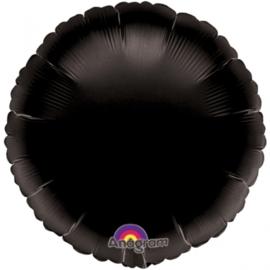 Folieballon rond zwart excl.