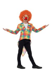 Geblokte neon clowns jas