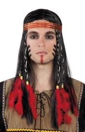 Pruik indiaan apache