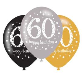 Ballonnen sparkling gold 60 jaar