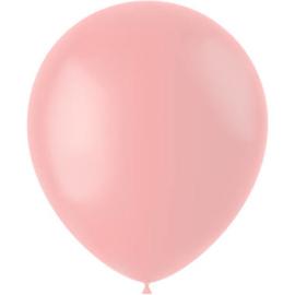 Ballonnen Powder Pink Mat 33cm - 50 stuks |