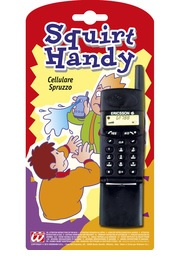 Spuitend mobieltje
