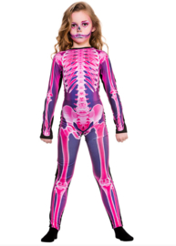 Jumpsuit X-ray pink kids