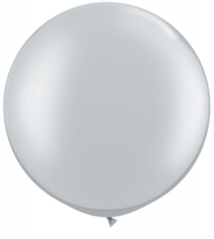 Ballon 90cm Silver metallic qualatex