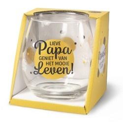 Wijnglas Papa Proost!