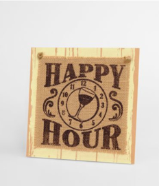Wooden sign - Happy hour