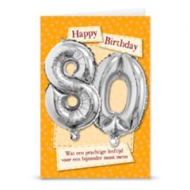 Leeftijd ballonnen kaart 80 jaar