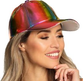 Metallic gekleurde regenboog | Baseball cap