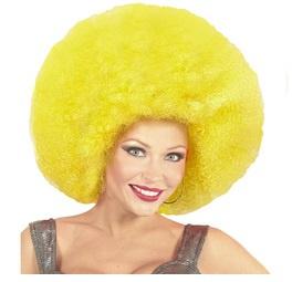 Pruik afro extra groot geel