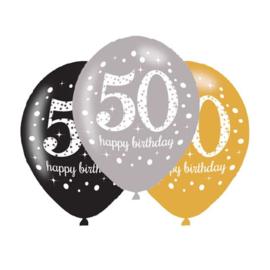Ballonnen sparkling gold 50 jaar