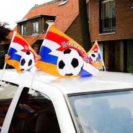 Oranje auto vlaggetje
