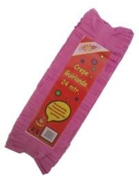 Crepe guirlande - slingers -- roze