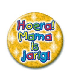 Button hoera mama is jarig