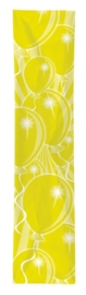 Feest banner geel 300x60cm