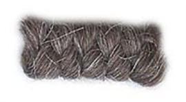 Wolcrepe donkerbruin grijs 10cm