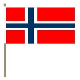 Zwaai vlaggetje Noorwegen
