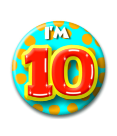 Button 10 jaar