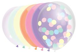 Ballonnen mix pastels 10 stuks