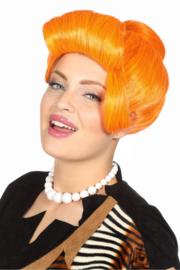 Wilma Flintstones pruik