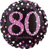 Folieballon HBD sparkling pink 80 (45cm)