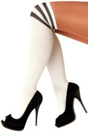 Lieskousen wit met zwarte strepen