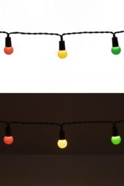 Lichtverlichting snoer 50 lamps rood, geel en groen