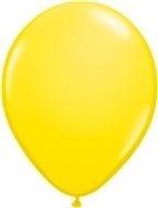 Kwaliteitsballon standaard - geel - 10 stuks