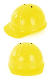 Plastic werkhelm geel