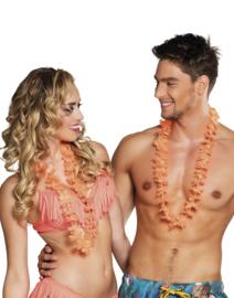Hawaii krans oranje easy 25 stuks