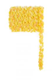 Paillettenband golvend geel 3m